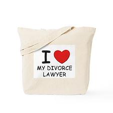 I love divorce lawyer Tote Bag