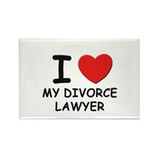 I love divorce lawyer Rectangle Magnet