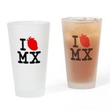 CLASIC!! ''I HEART MEXICO TEE... Drinking Glass