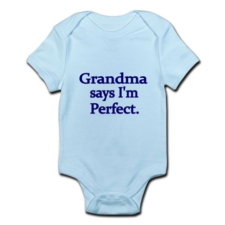 Grandma says Im perfect-blue Body Suit