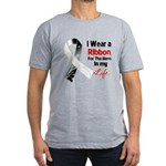 Ribbon Hero Carcinoid Cancer Men's Fitted T-Shirt
