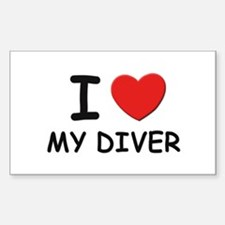 I love divers Rectangle Decal