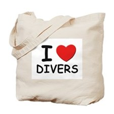 I love divers Tote Bag