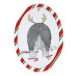 Old English Sheepdog Christmas Oval Ornament