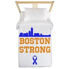 Boston Strong Ribbon Design Twin Duvet