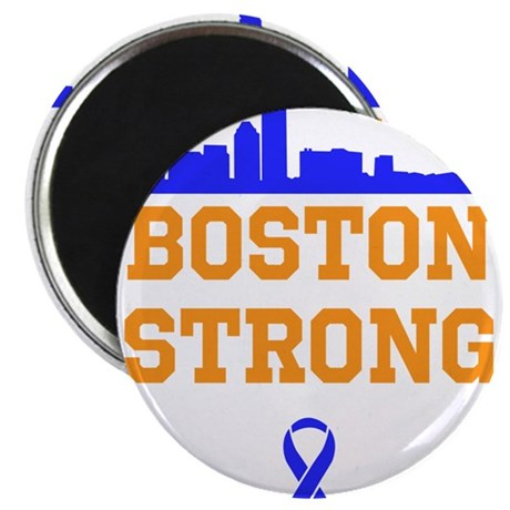 "Boston Strong Ribbon Design 2.25"" Magnet (100 pack"