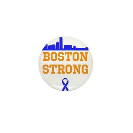 Boston Strong Ribbon Design Mini Button