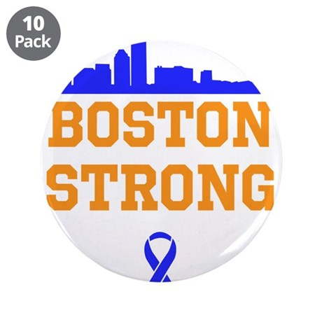 "Boston Strong Ribbon Design 3.5"" Button (10 pack)"