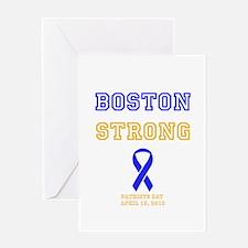 Boston Strong Ribbon Design Greeting Card
