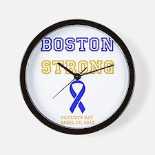 Boston Strong Ribbon Design Wall Clock