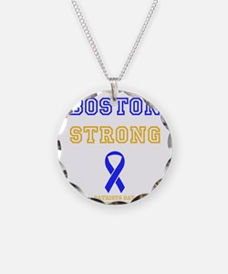 Boston Strong Ribbon Design Necklace