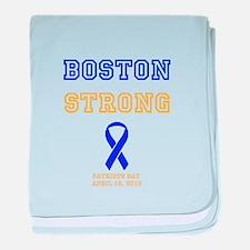 Boston Strong Ribbon Design baby blanket