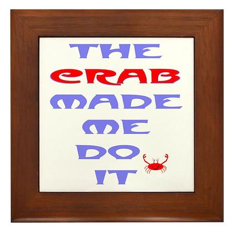 Blame the Crab Framed Tile