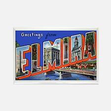 Elmira New York Greetings Rectangle Magnet