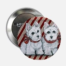 Candy Cane Westies Button