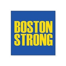 "Boston Strong mug Square Sticker 3"" x 3"""