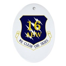 16th AEW Ornament (Oval)