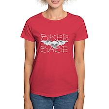 Bat Skull Biker Babe Tee