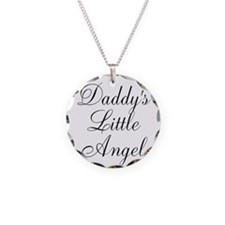 Daddys Little Angel Black Script Necklace