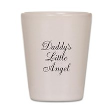 Daddys Little Angel Black Script Shot Glass