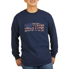 Boston Strong - US Flag Long Sleeve T-Shirt