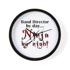 Band Director Ninja Wall Clock