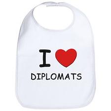 I love diplomats Bib