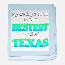 bestest in texas baby blanket