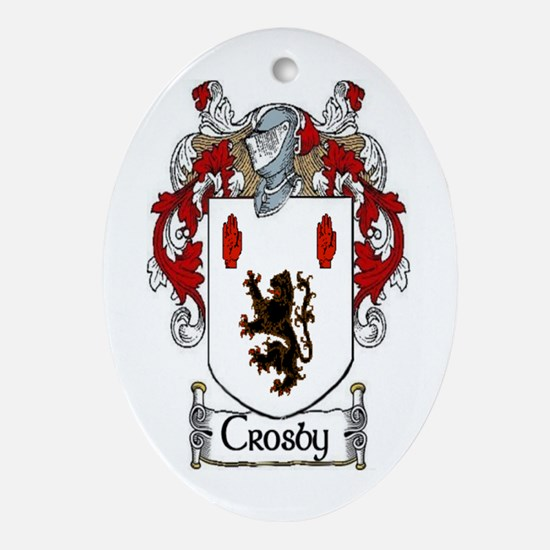 Crosby Coat of Arms Ornament (Oval)