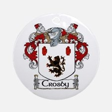 Crosby Coat of Arms Ornament (Round)
