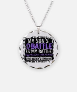 My Battle Too 2 H Lymphoma Necklace Circle Charm
