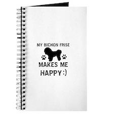 My Bichon Frise Makes Me Happy Journal