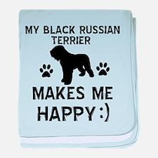 My Black Russian Terrier Makes Me Happy baby blank