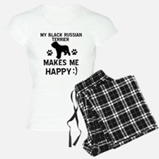 My Black Russian Terrier Makes Me Happy pajamas