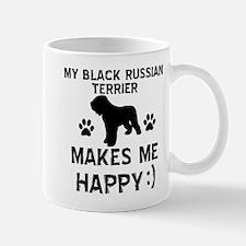 My Black Russian Terrier Makes Me Happy Mug