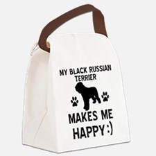 My Black Russian Terrier Makes Me Happy Canvas Lun