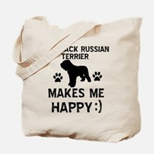 My Black Russian Terrier Makes Me Happy Tote Bag