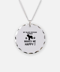 My Black Russian Terrier Makes Me Happy Necklace