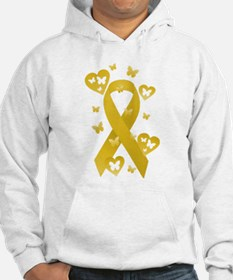 Yellow Awareness Ribbon Hoodie