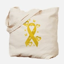 Yellow Awareness Ribbon Tote Bag