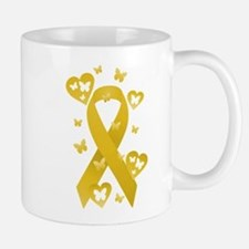 Yellow Awareness Ribbon Mug