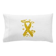 Yellow Awareness Ribbon Pillow Case
