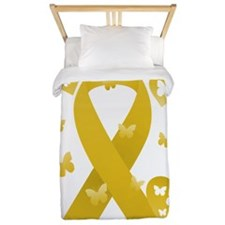 Yellow Awareness Ribbon Twin Duvet