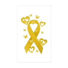 Yellow Awareness Ribbon Decal