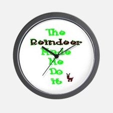 Blame the reindeer Wall Clock