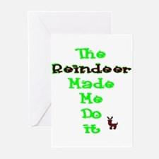 Blame the reindeer Greeting Cards (Pk of 10)