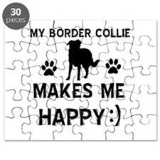 My Border Collie Makes Me Happy Puzzle
