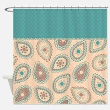 Paisley Dots Shower Curtain