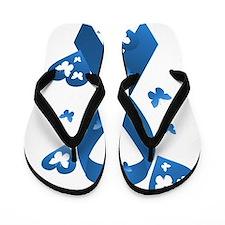 Blue Awareness Ribbon Flip Flops