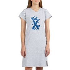 Blue Awareness Ribbon Women's Nightshirt